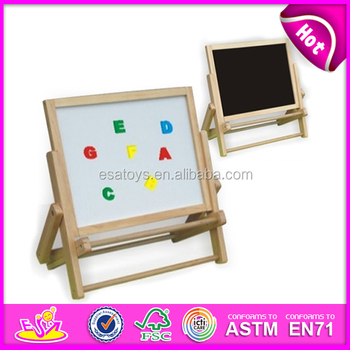 2015 new wooden folding easel toy for kids mini wooden toy folding