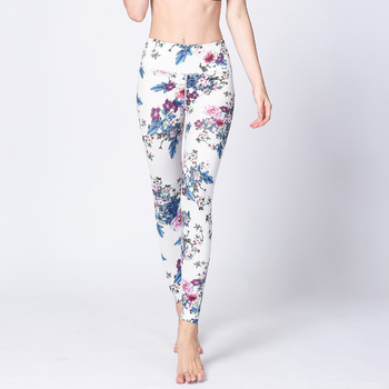1857537b4dc09 Best Selling Milky Silk Custom Printed Yoga Pant Leggings For Women 92  Polyester 8 Spandex Leggings