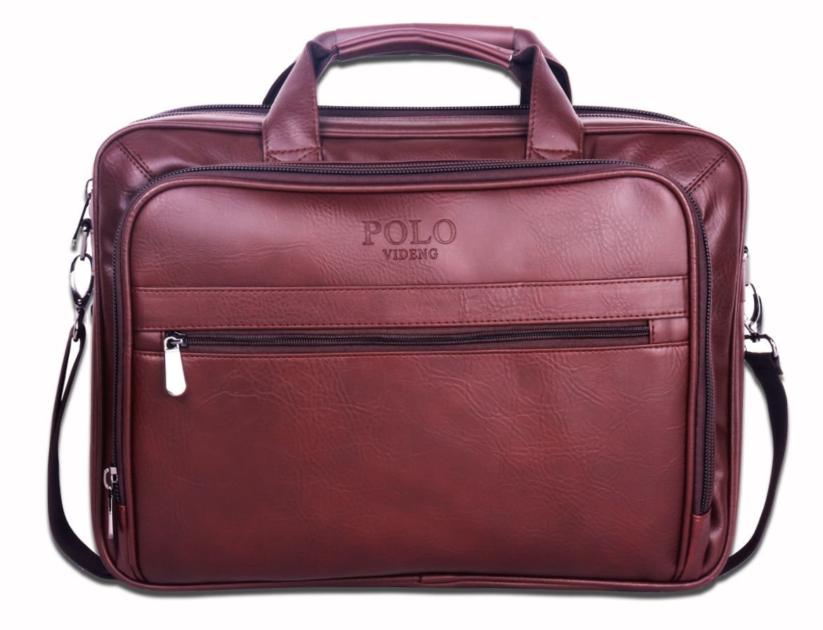 746fee8bbe90 POLO VIDENG Hotest Fashion Classic Expandable Leather Briefcase Shoulder  Messenger Bag For 15 17 Macbook Laptop