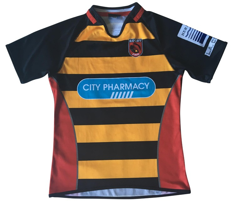 Directly factory sale full-size printing sublimated custom rugby jersey