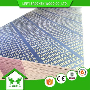 13 PLY 18mm Laminated Marine Plywood/Timber For Concrete Formwork