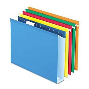 PFX4152X2ASST - Pendaflex Colored Box Bottom Hanging Folder