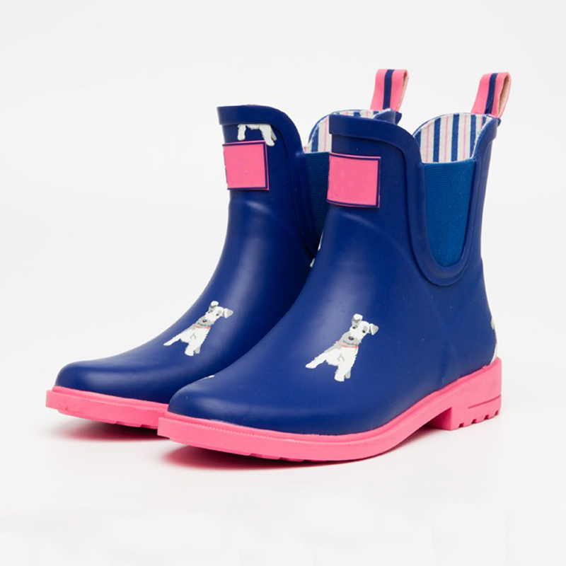 New style unique fashion ankle high women rubber rain boots