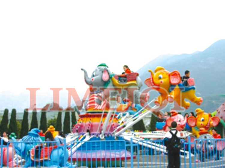 Limeiqi Play Amusement Equipment  Kids Rides Outdoor/indoor Playground Flying Elephant