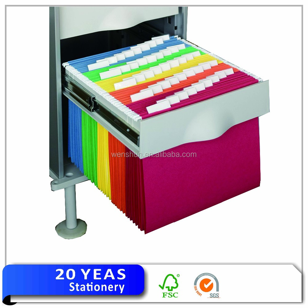 Office supply paper hanging file folder/letter size file folder with tab