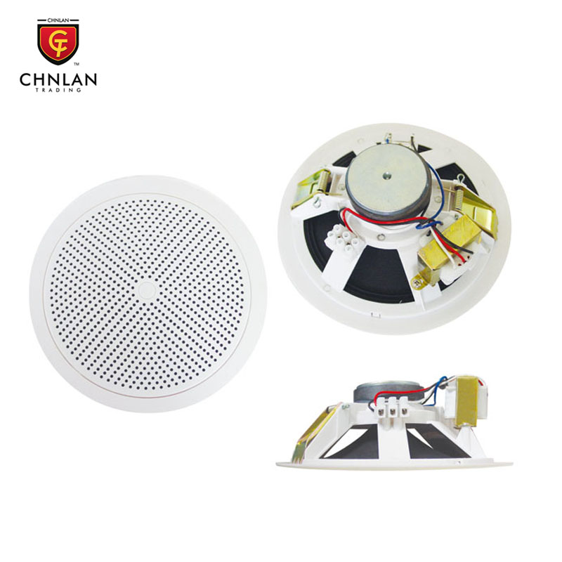 "CS663T PA audio system 6w 6"" ceiling flush mount speaker"