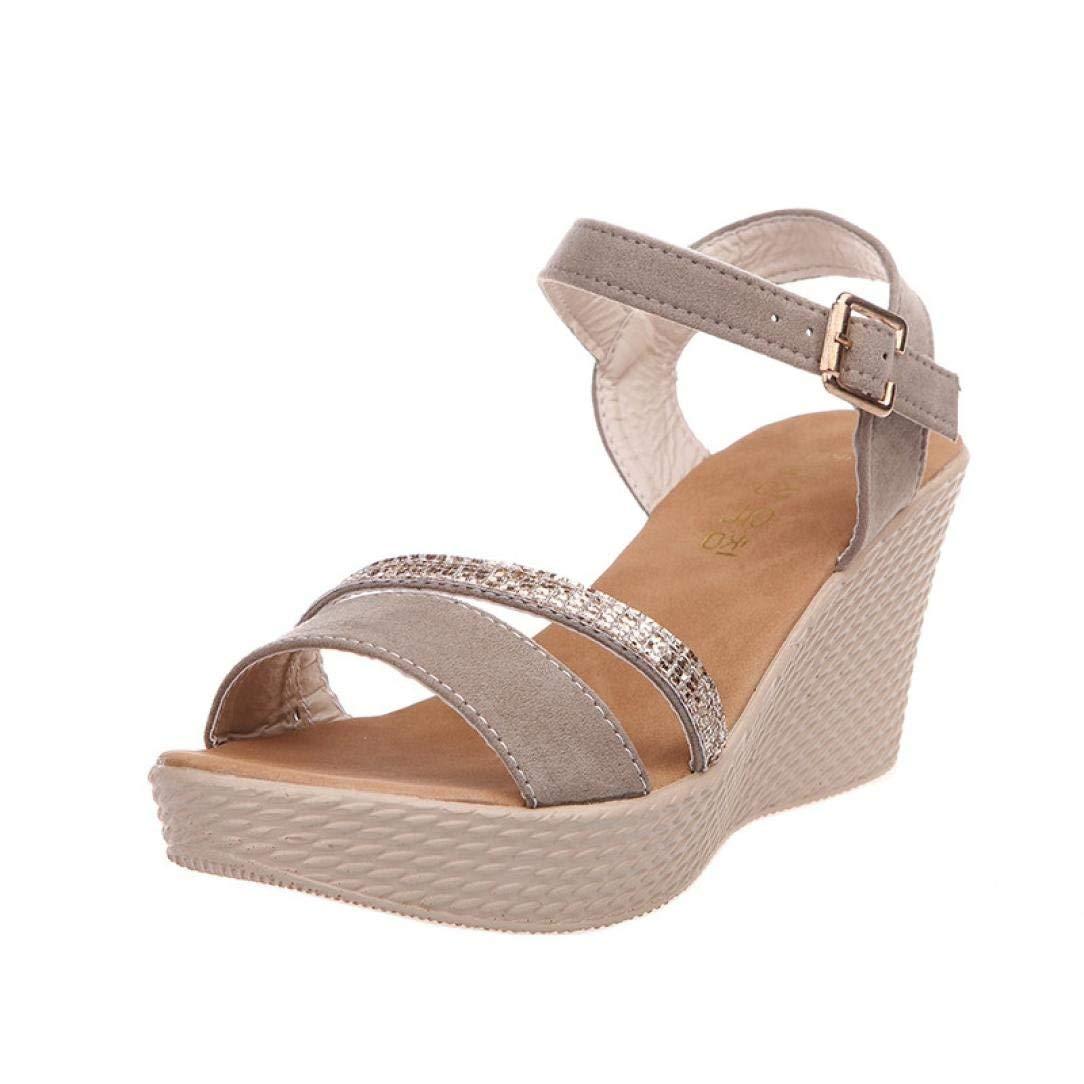 494bf6566 Goddessvan Women's Adjustable Ankle Strap -Summer High Heels Wedge Sandals  - Cute