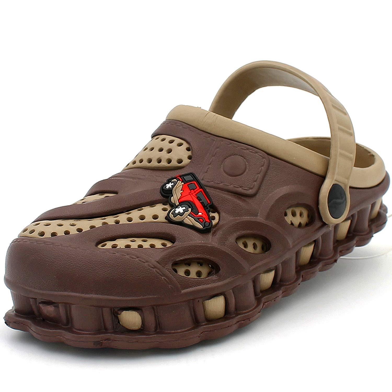 Ku-lee Kids Cool Garden Shoes Cartoon Slides Sandals Clogs Children Beach Slipper Shark Design