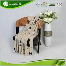 Good quality custom animal pattern travel cheap throw thin blankets