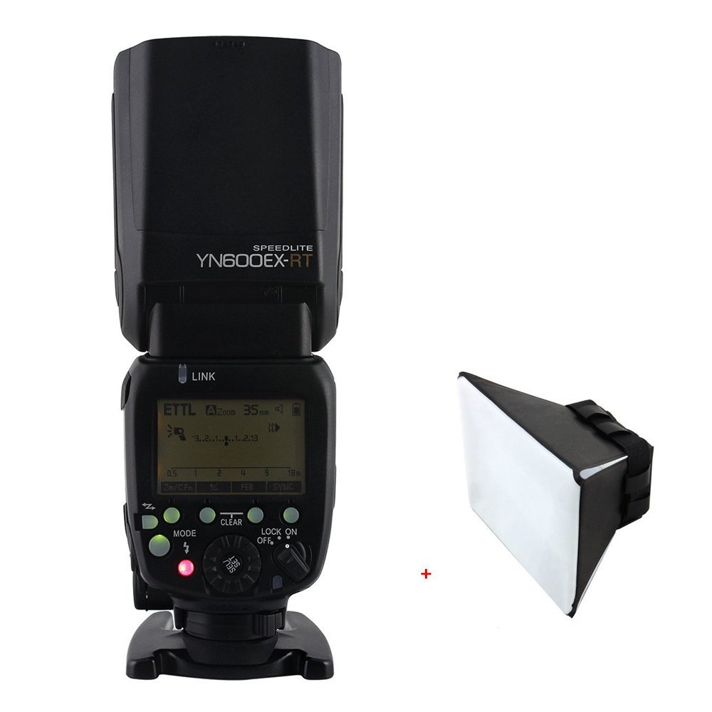 YONGNUO YN600EX-RT Wireless Flash Speedlite TTL Master for YN-E3-RT Canon with Sinvitron Flash Diffuser
