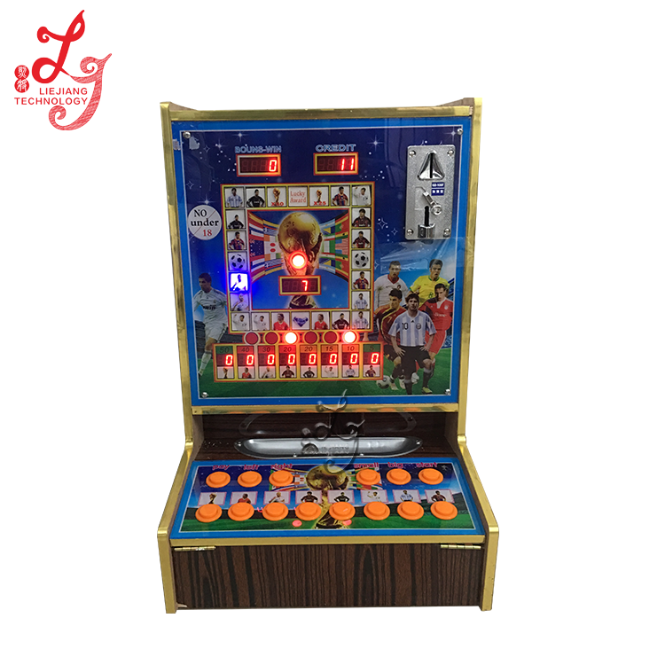 LJSL2-B Beer Club slot machine for sale indoor table top slot game machine / foot ball mario game 1 coin 1 point