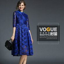 new style fashion half sleeve elegant lace women knee length dress bodycon cocktail dress for wholesale