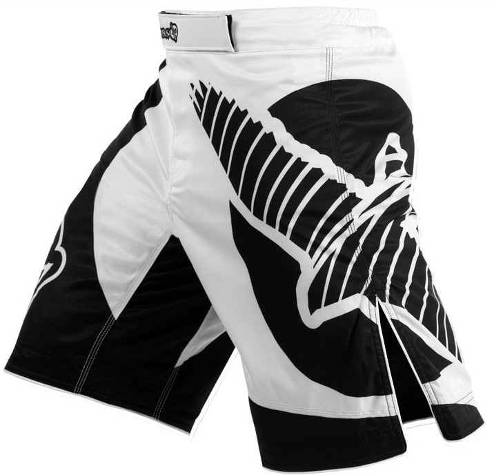 Free shipping High quality Men's MMA Black and White professional Fight shorts - Muay Thai/Boxing/Jujitsu shorts XS-L