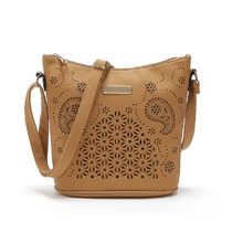 SS18 Yiwu Wholesale PU Perforated Design Hobo Bag Women Handbags