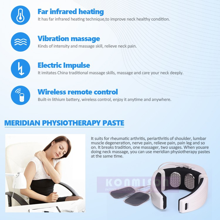 Wireless Remote Control Health Care Neck Massager (3)