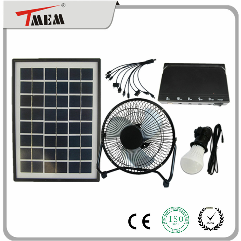 Portable solar energy <strong>kit</strong> for home use solar lighting system with fan 5W
