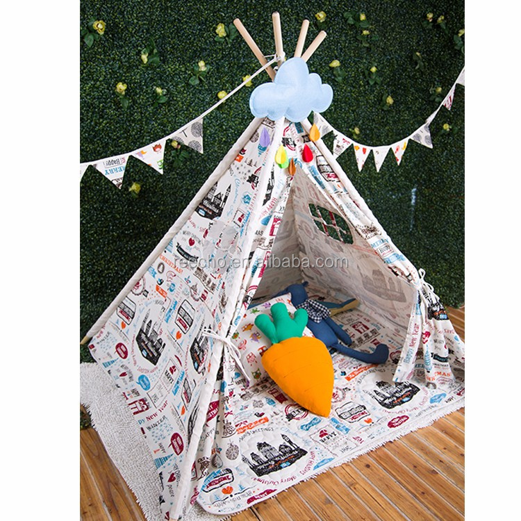 Soft Cotton Linen Play Teepee Tent Newest