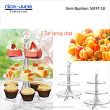 Detachable Acrylic Tierd Cake Stand Cup cake Stand Plastic Display Stand for Wedding Cake