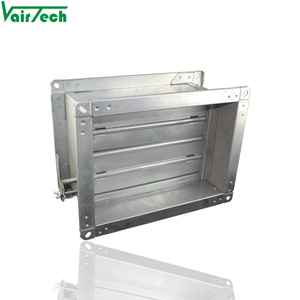 HVAC adjustable manual air duct damper galvanized volume control damper for duct