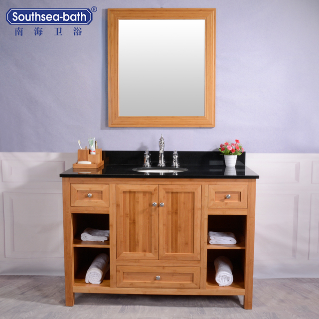 bamboo bathroom vanities. nhtyf-48 48\u0026quot; classical bamboo bathroom vanity cabinet vanities