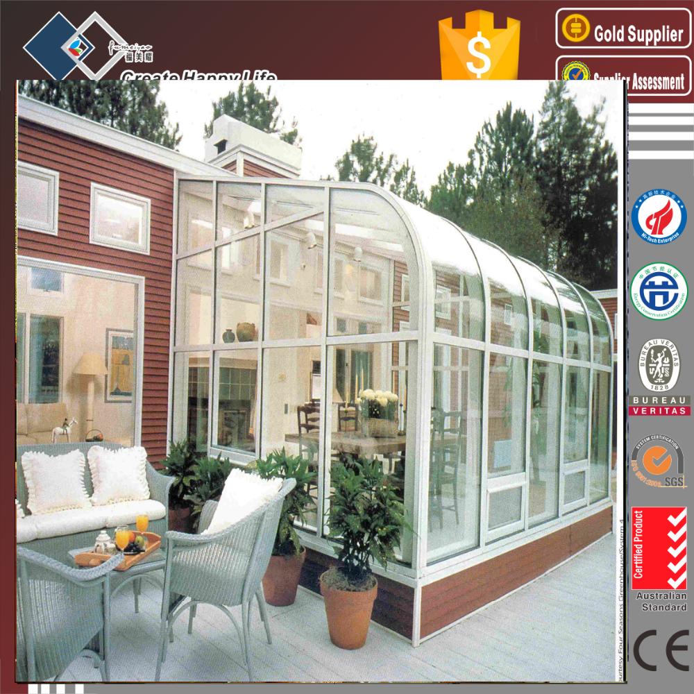 Sliding door type aluminum veranda sun room high quality aluminum glass sun rooms aluminum - Types sunrooms advantages ...