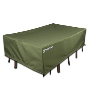 600D Polyester Garden Furniture Cover Rectangular Table Chairs Protective Cover Folding Outdoor Furniture Set Cover FT-16