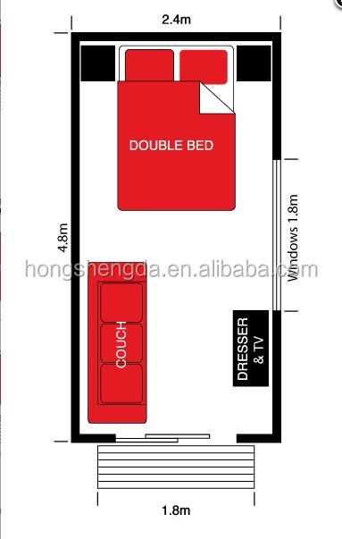 Prefab insulated portable folding cabins buildings buy portable folding cabins portable for Plan amenagement studio 25m2