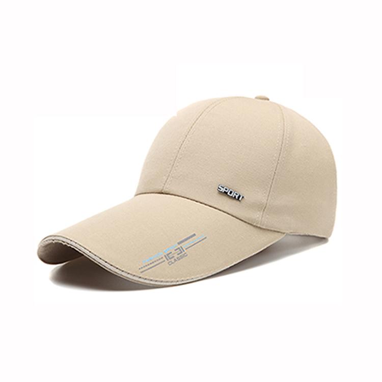 printing logo long brim baseball caps and hats men 100% polyester outdoor  piping running hat 043a5c9102ac