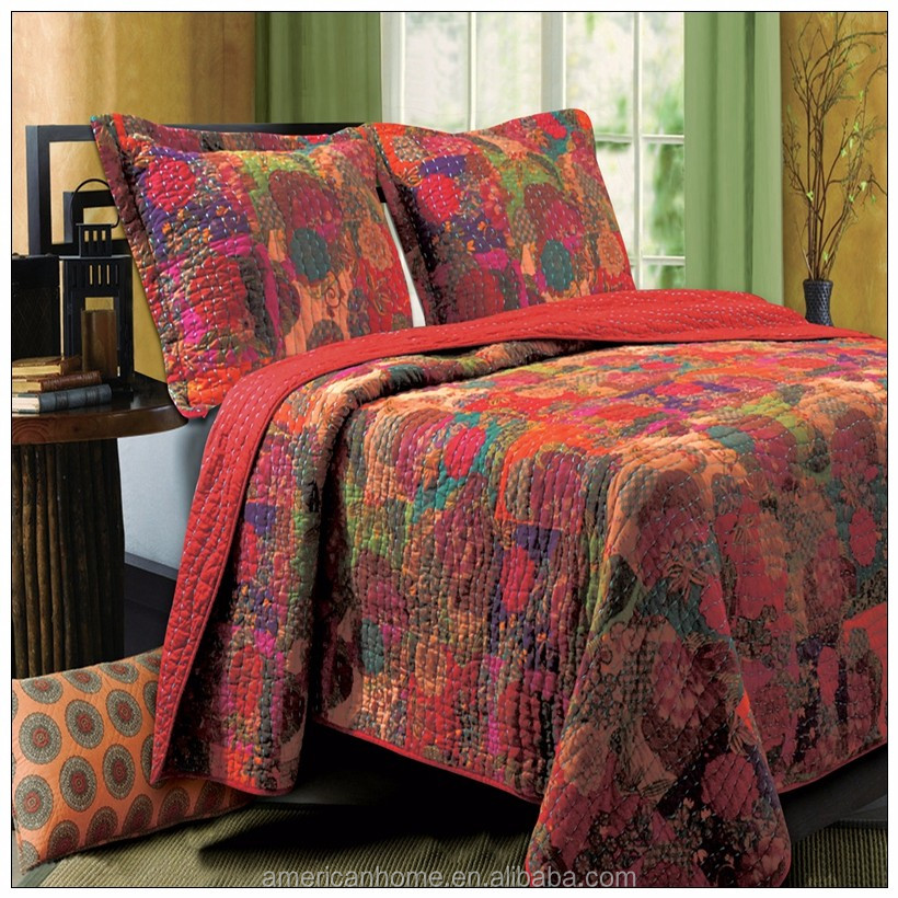 wholesale indian embroidered bedspreads cotton for adults