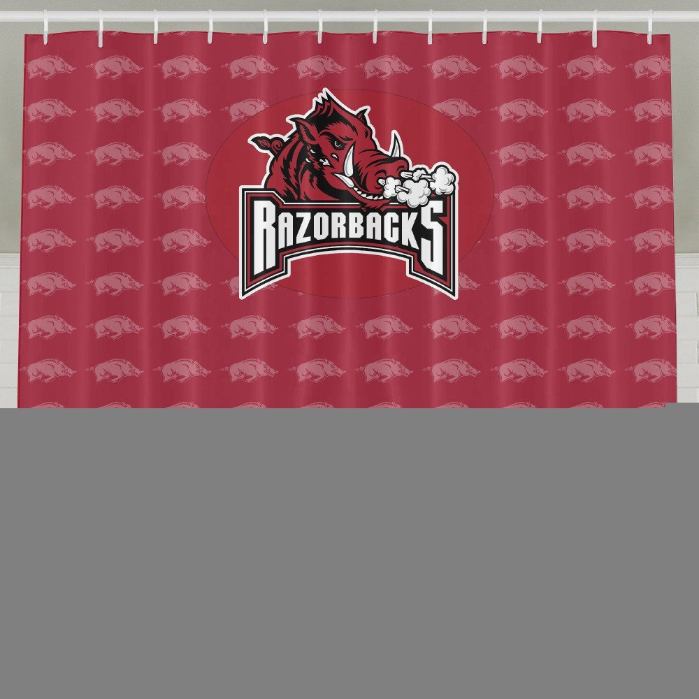IWKULAD NCAA Arkansas Razorbacks Hogs College Sports Teams Customized Shower  Curtains