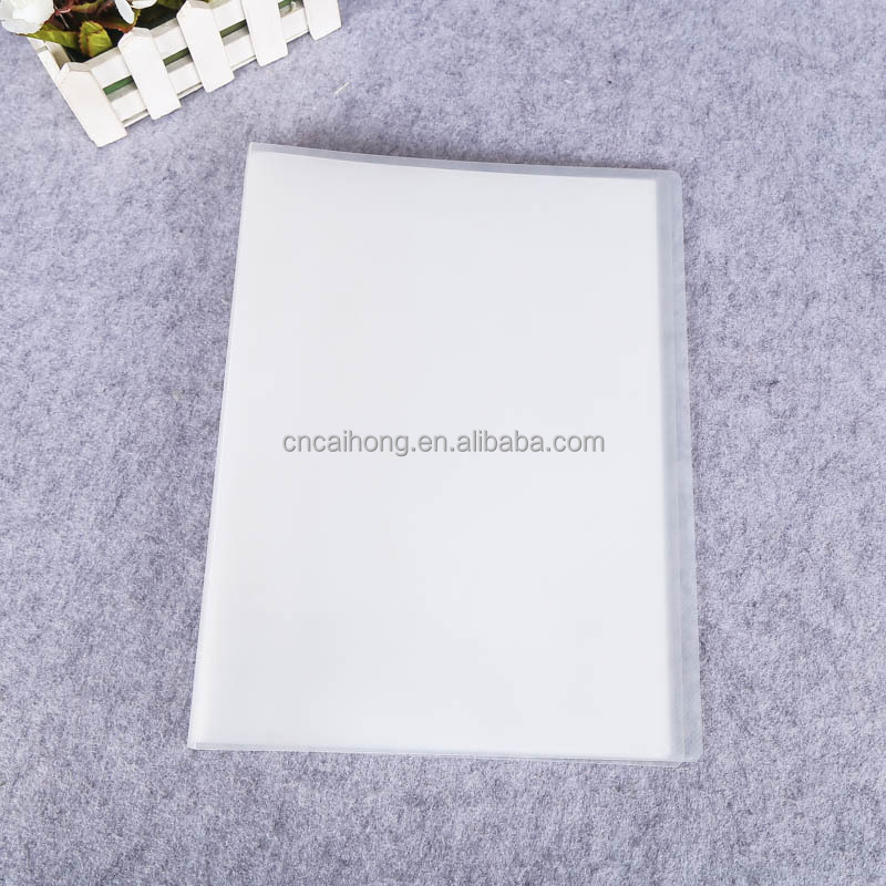 transparent plastic multipage hard cover a4 clear file folder document holder folding document holder pp clear book file folder