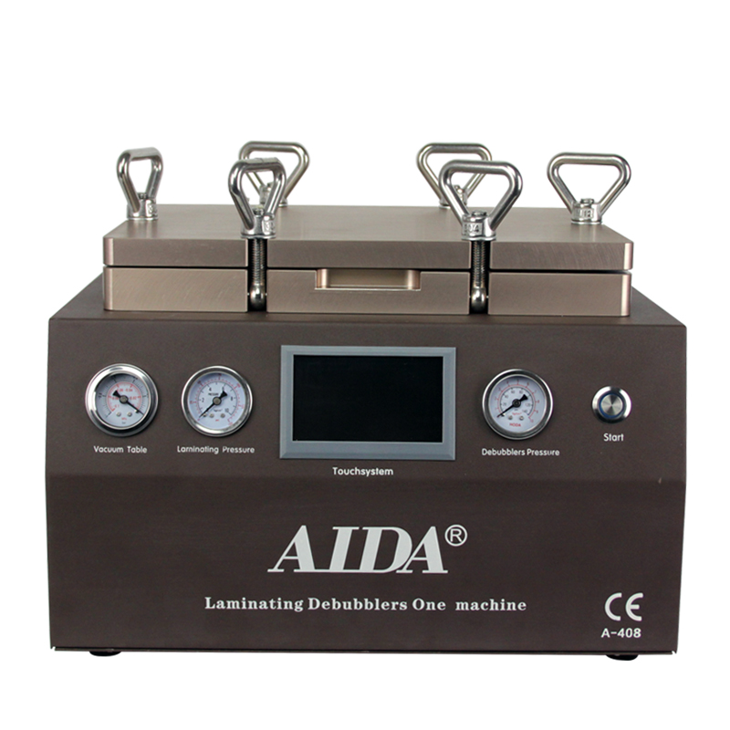 100% no bubbles LCD & Touchscreen Laminating refurbish machine Aida A408 with display, no need Air compressor and Air pumper.