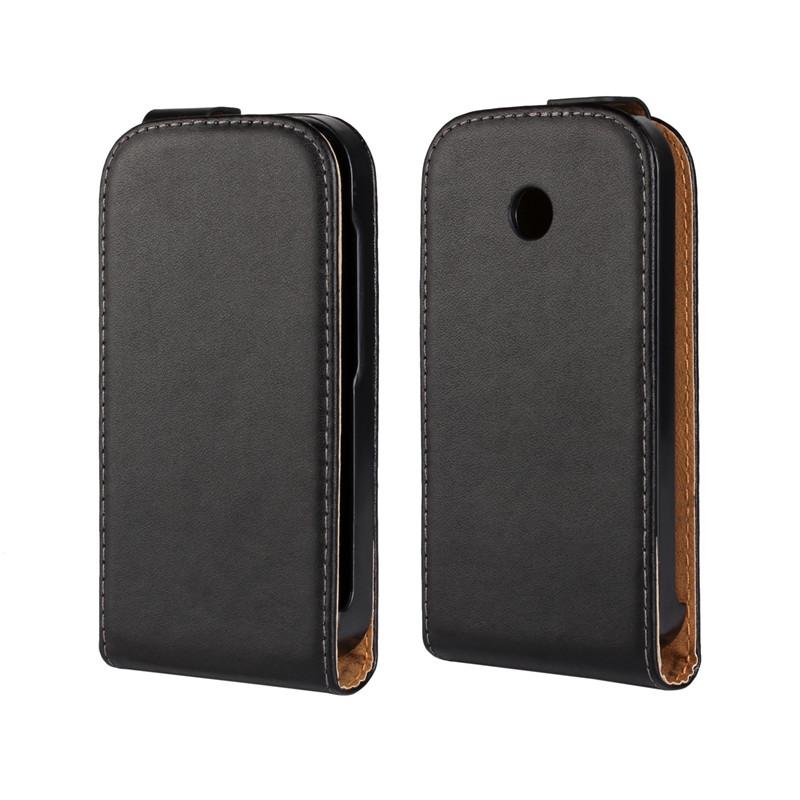 fff288424bb Get Quotations · For Motorola Moto E XT1021 XT1022 Luxury Genuine Leather  Vertical Flip Case Cover Mobile Phone Back