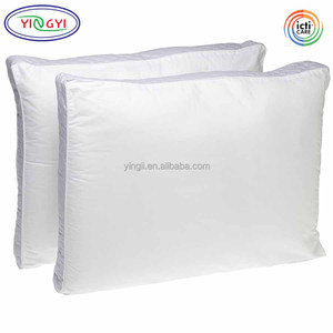 E475 Extra Firm Density King Size Pillow 100% Cotton Side Back Stomach Sleeper Prefer Hard Pillow