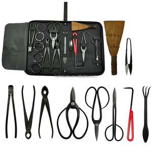 Bonsai Tool 14-Piece Carbon Steel Shear Set and Tool Kit