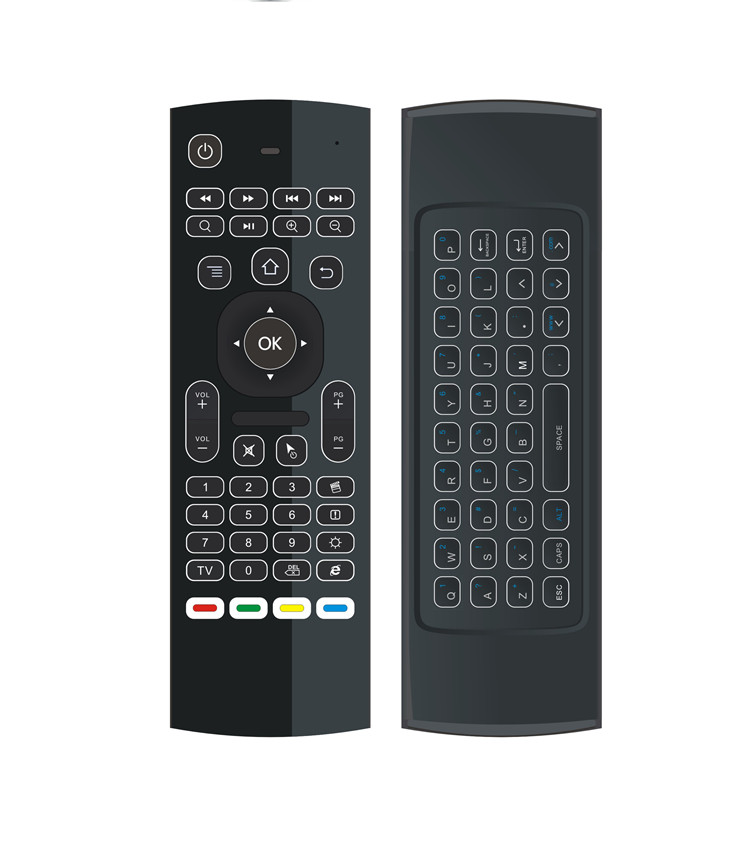 New brand MX3-L backlit air mouse IR control + learning for all keys home use Somatosensory remote