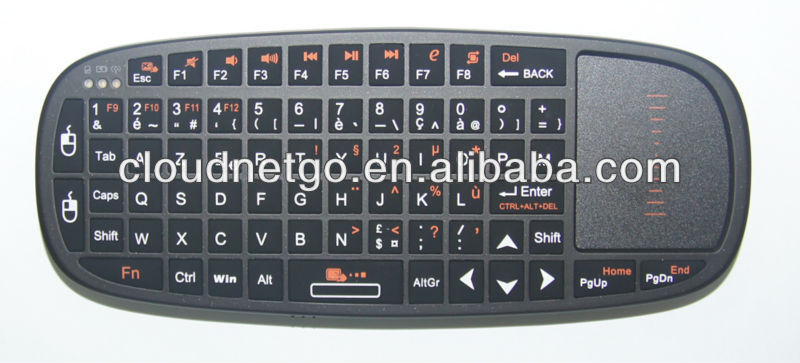 2.4GHz RC4 Mini Keyboard for table pc with Touchpad &Laser Pointer