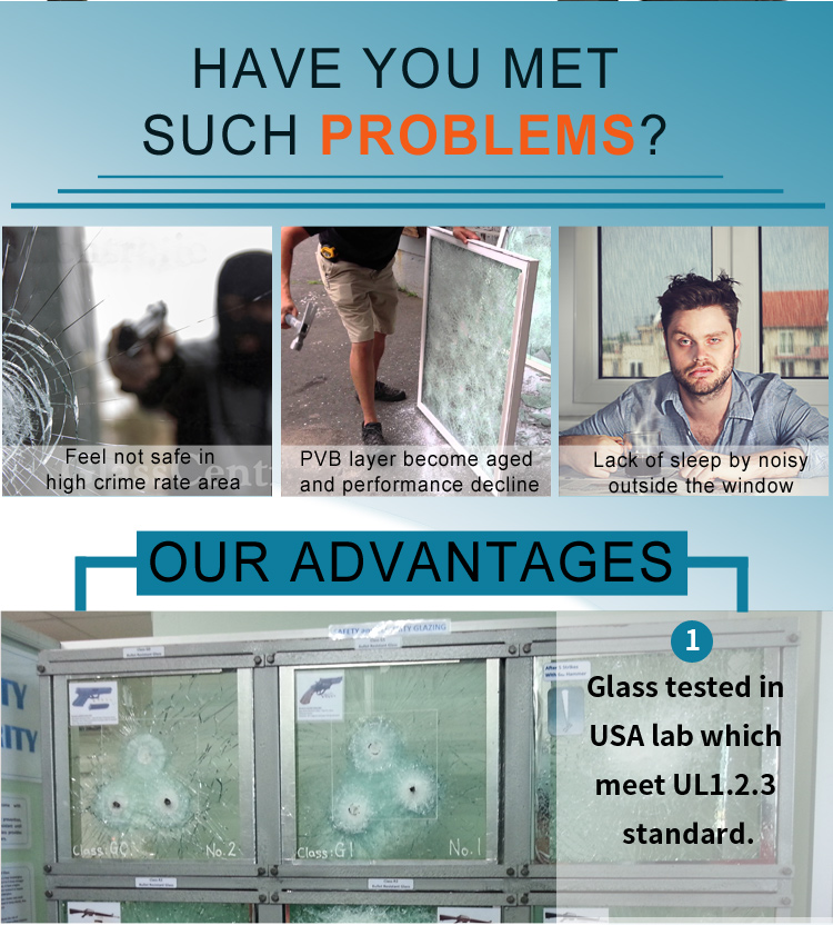 Bulletproof glass bullet proof windshield glass for sale