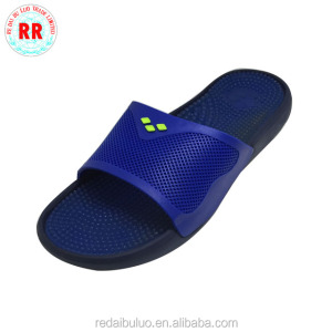 Latest design mens sandal blue massage slipper high quality silicone slippers