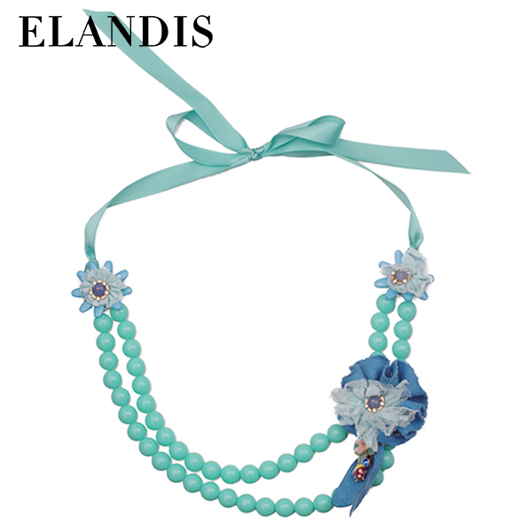 E-ELANDIS Fashion Jewelry Acrylic Beaded handmade Necklace Hand Knotted Beaded Necklace