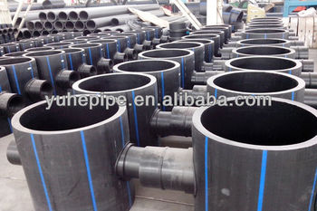 Hdpe pipe fitting hdpe fitting reducing tee hdpe fittings hdpe