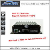 4-ch hard disk external mobile dvr for fleet managerment
