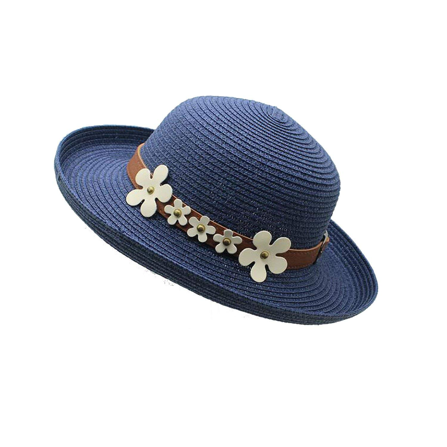 Get Quotations · Handmade Flanged Flower Belt Straw Hat Sun Hat Over The Cap  Rolled Beach Hat Sun Hat 834bfb85cedb