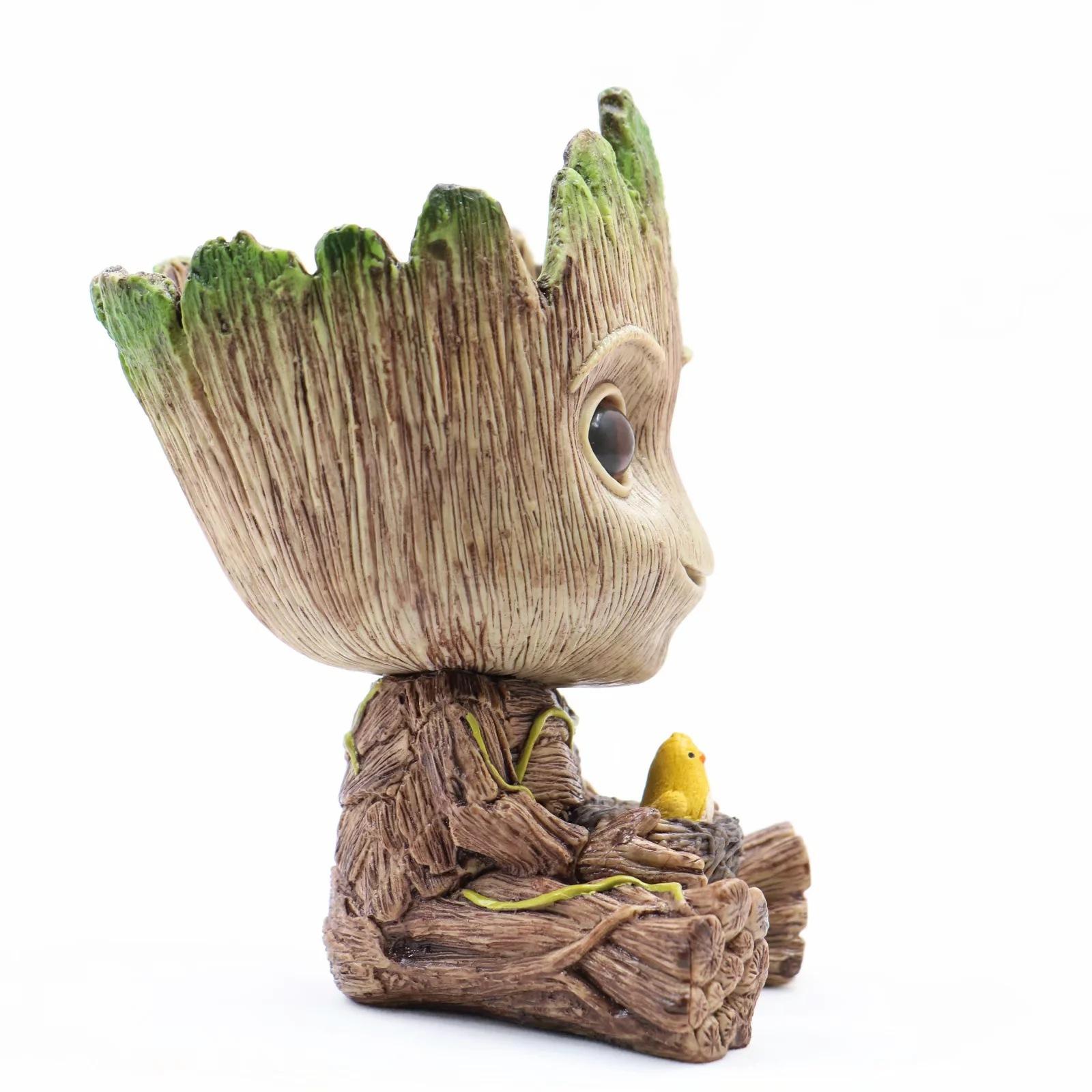SEN Maceta en Maceta /árbol Gente Gente /árbol Groot Mano Doll Acci/ón Coleccionables Estatua Juguete Figura