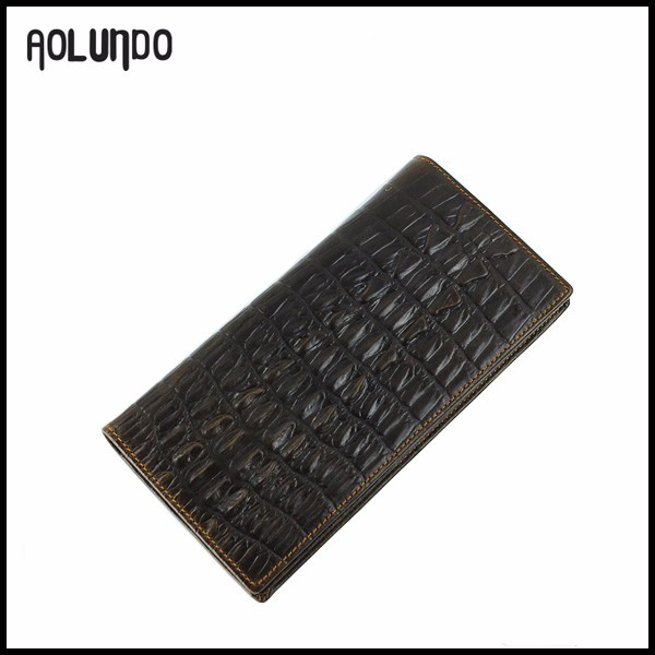 Mens fashion long high qulity alligator genuine leather vintage wallets