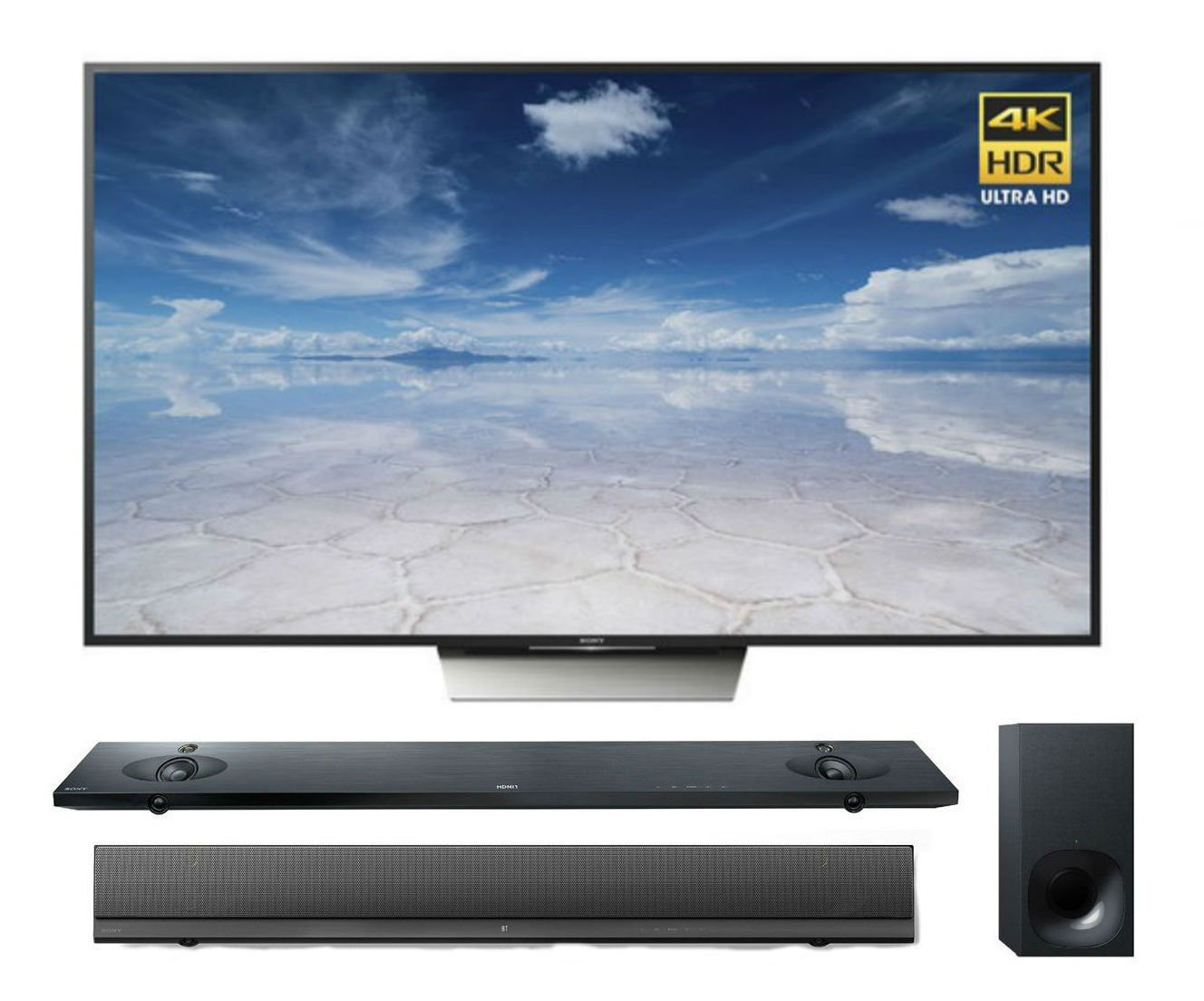 Sony X850D 75-Inch 4K HDR Television w/ Android TV + HTNT5 Sound Bar
