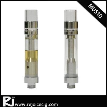 Glass atomizer o pen vape 510 clear tank vapor metal cannabidiol cbd oil  cartridge