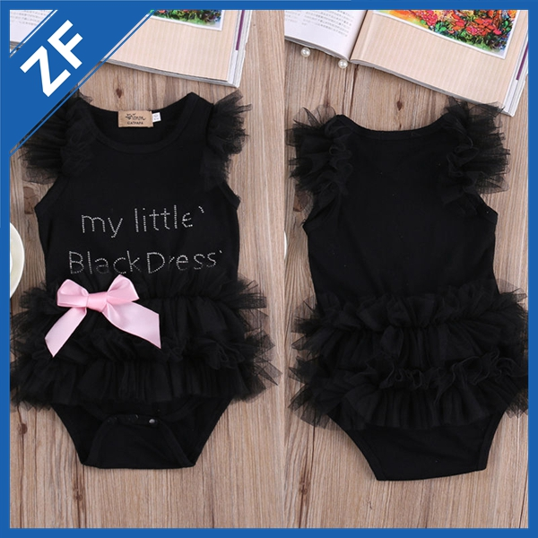wholesale fashion cotton summer baby girl romper children clothing