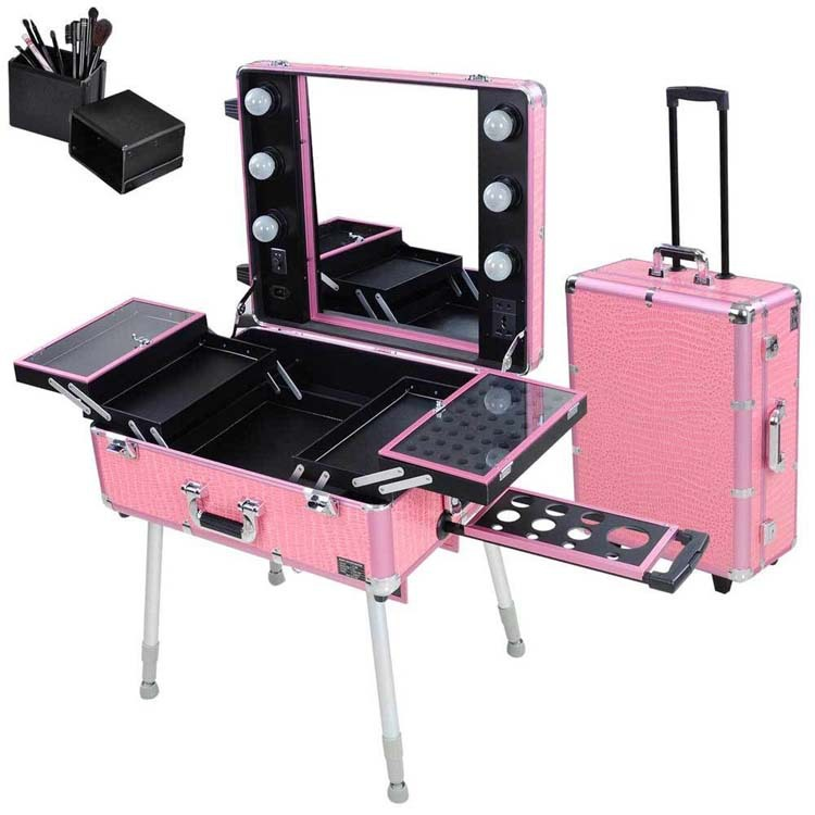 Make Up Case With Lights Rolling Studio Makeup Artist