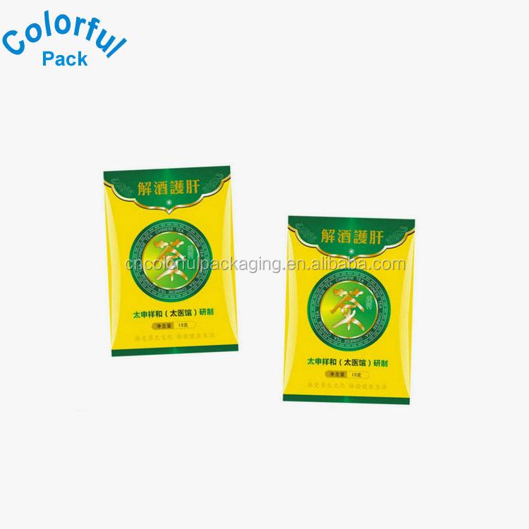 HOT! túi trà trống rỗng bán buôn tùy chỉnh in màu nắp kéo trà gói sản xuất tại Trung Quốc